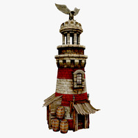 lighthouse medieval 3d model