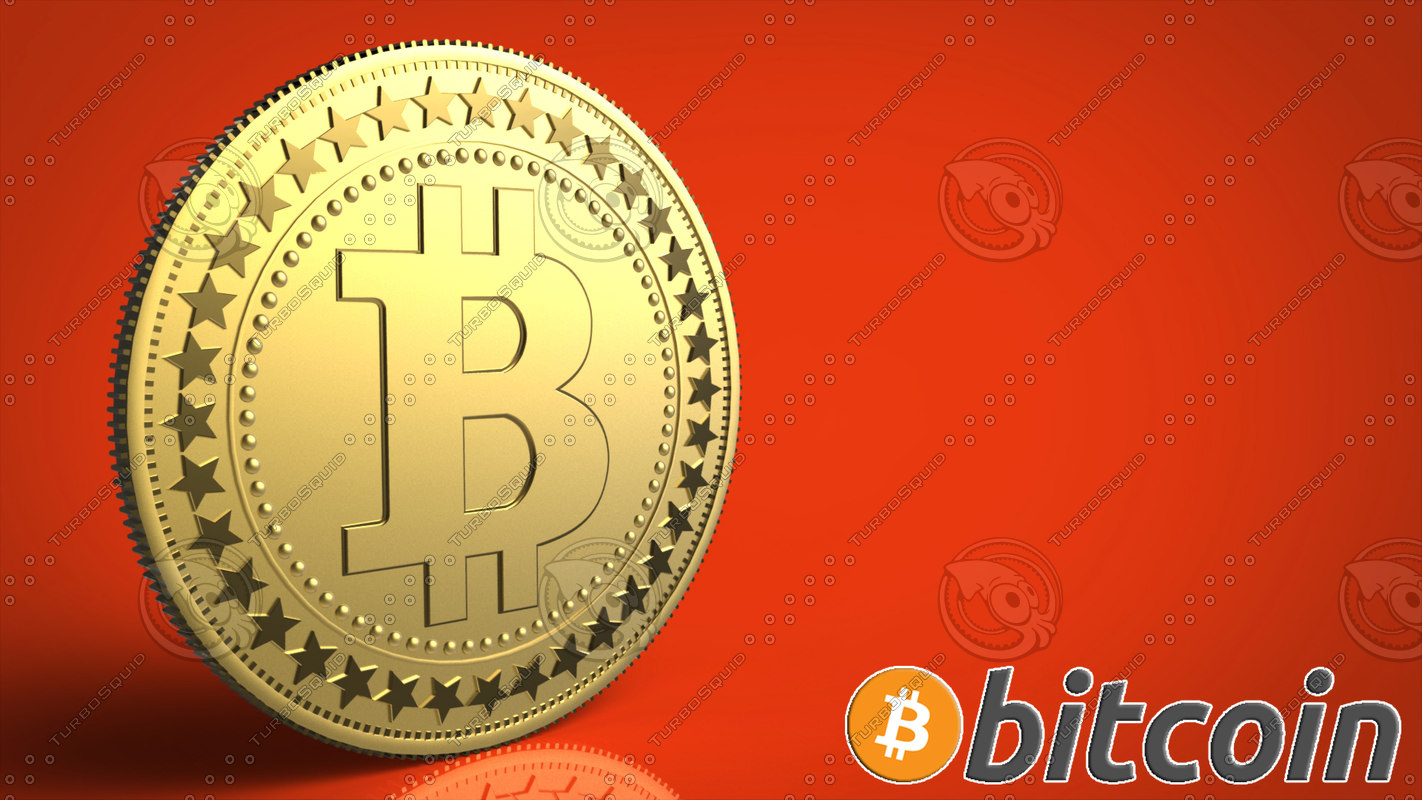 bitcoin currency virtual 3d model