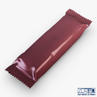 3d model candy wrapper v 4