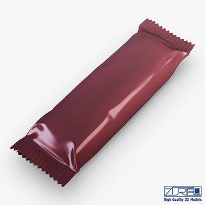 3d model candy wrapper v 4