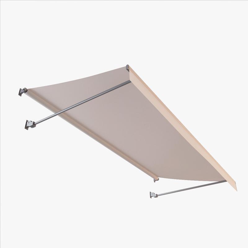 3d cloth awning model