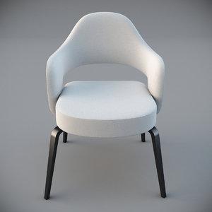 3d model eero saarinen arm chair