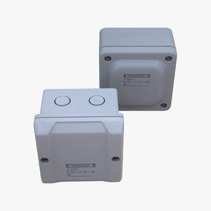 3d model set electrical boxes