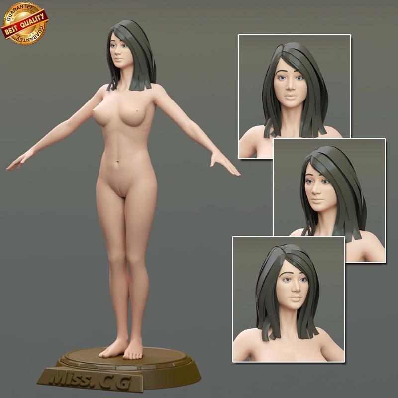 modeled body female 3d model