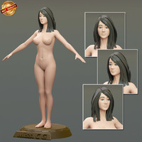 modeled body female 3d model