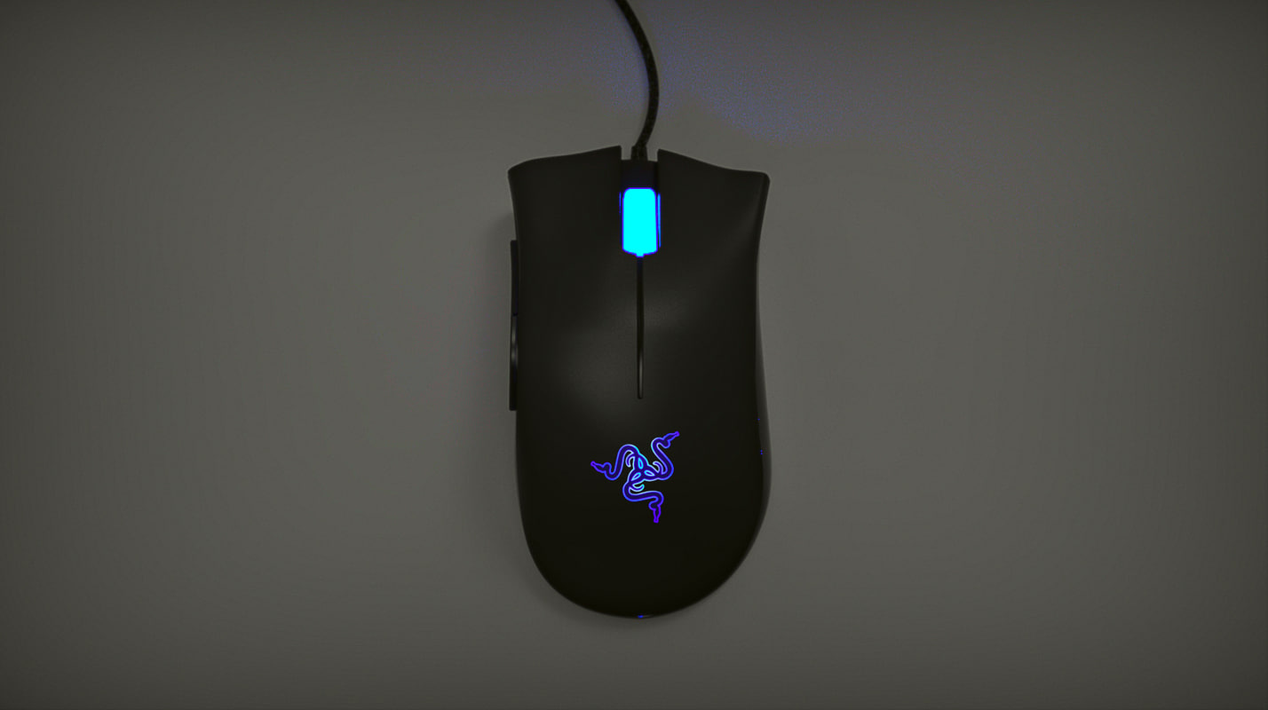 3d razer deathadder mouse model