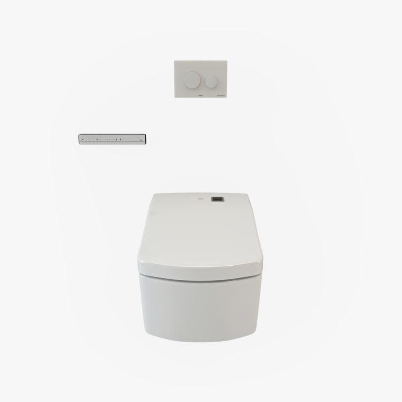 3d model of toto neorest washlet