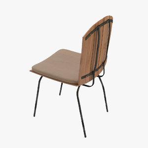 max chair metal legs