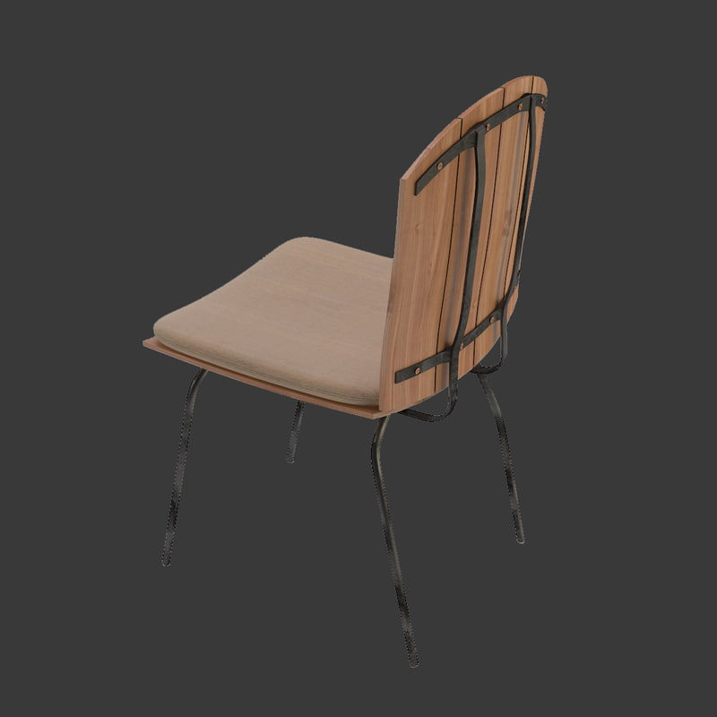 max chair metal legs