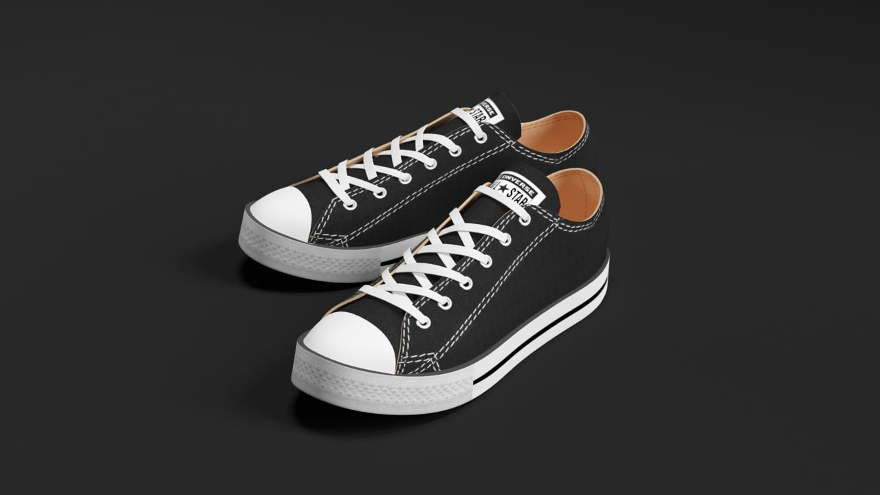 3d converse star sneakers