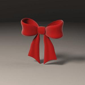 hair bow 3d model