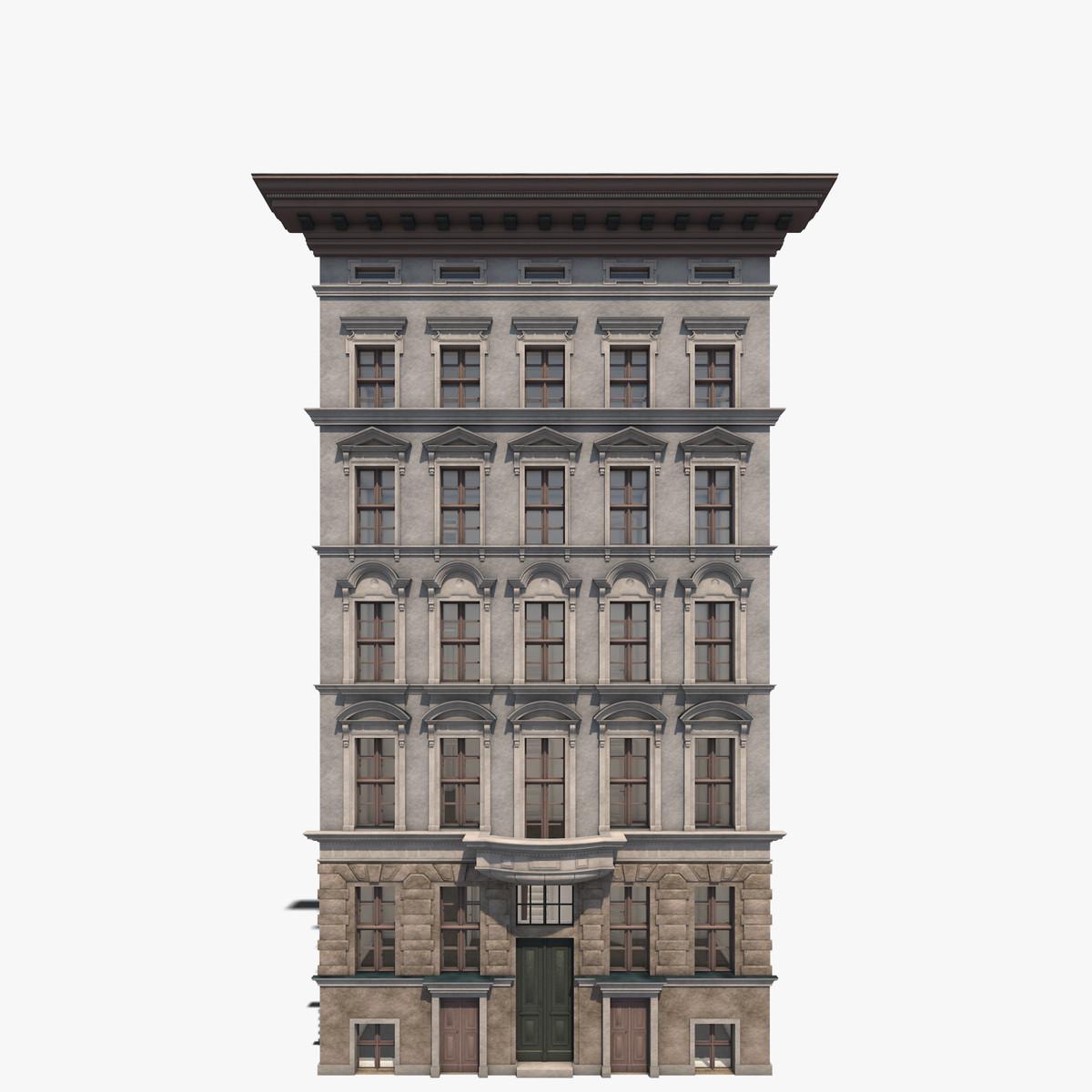apartment building friedrichsgracht 3d 3ds