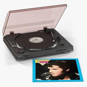 sony ps-lx300usb vinyl record 3d max
