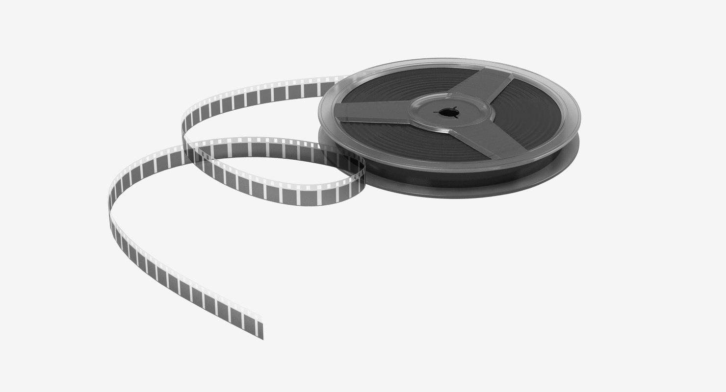 3d model film roll