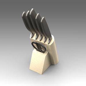 knife set 3d model
