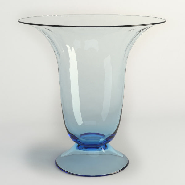 glass table vase 3d model