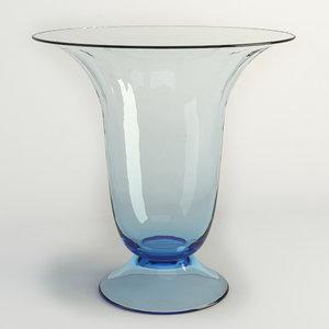 glass table vase 3d model