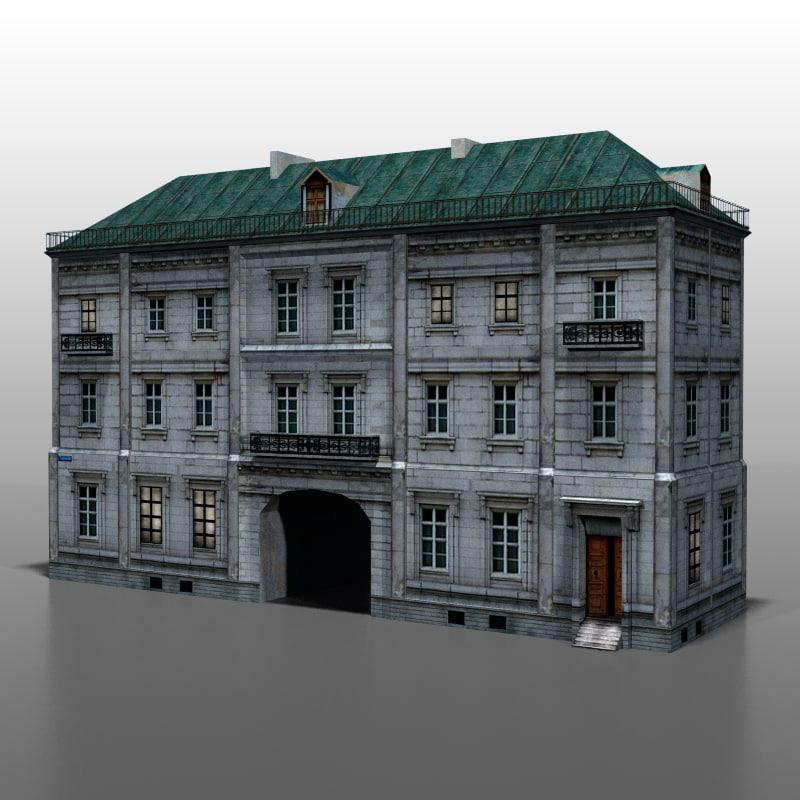 3d model house polish