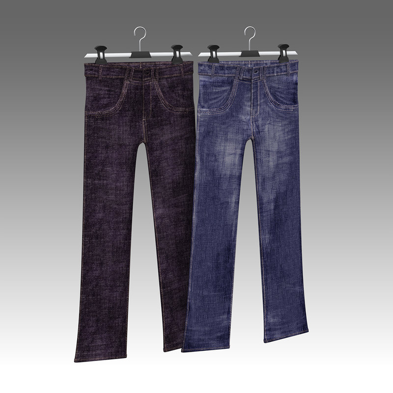 3d model of jeans