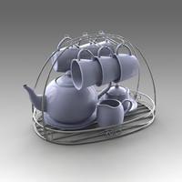 tea set 3d x