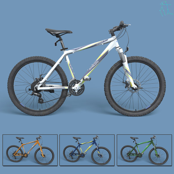 realistic mountain bike 3d max