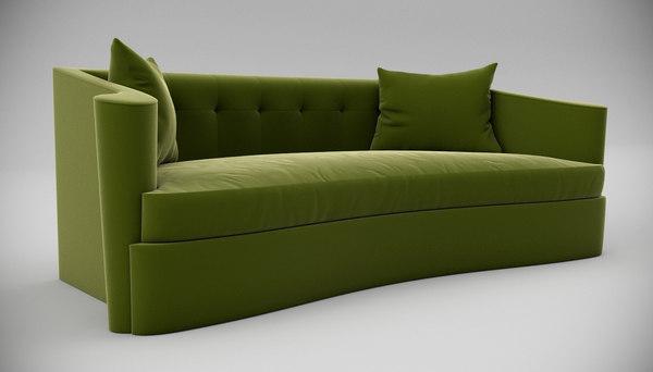 lillian august maison sofa interior 3d model
