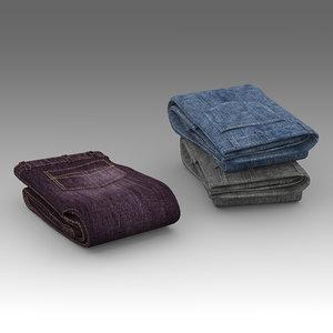 jeans 3d fbx