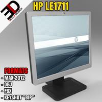 hp compaq le1711 monitor 3d max