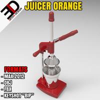 3d juicer orange model
