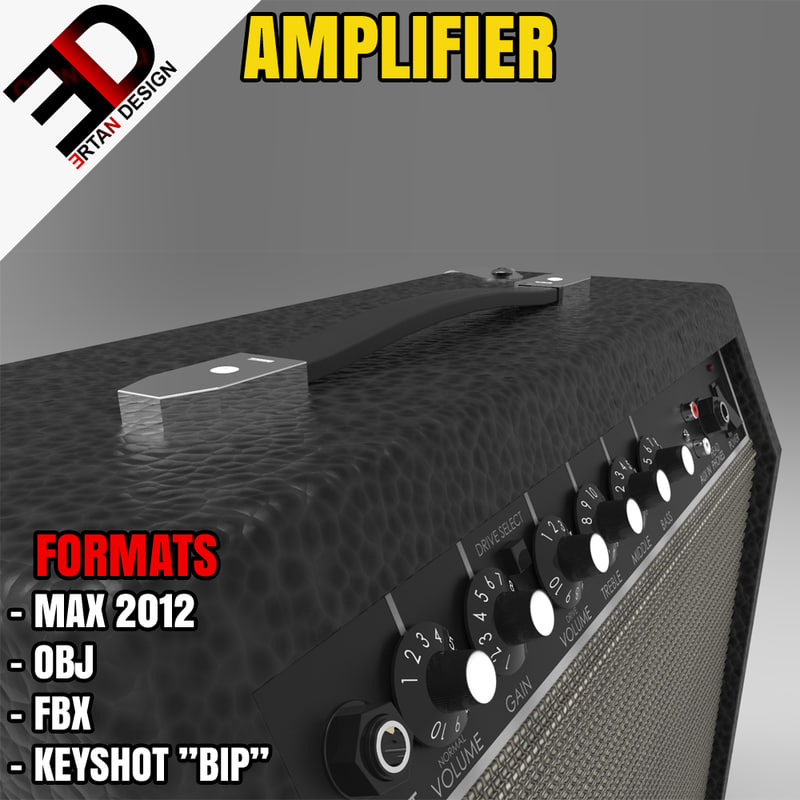 amplifier musical 3d model