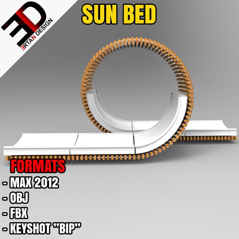 sunbeds 3d model