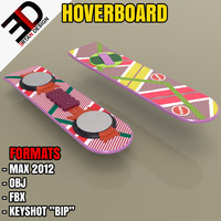 future hoverboard 3d model