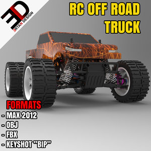 3d model rc road truck