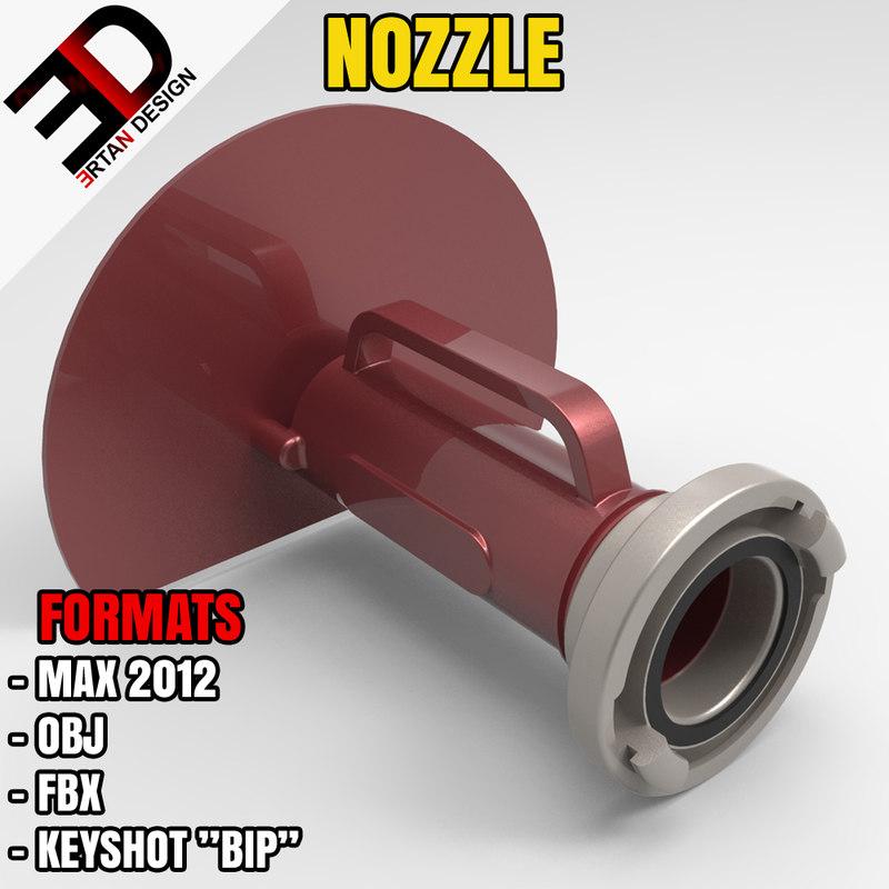 3d model water shield nozzle