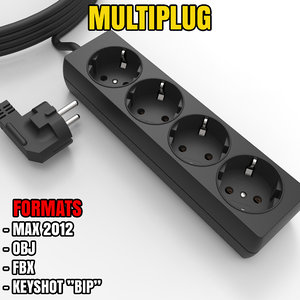 multiplug cable 3d max