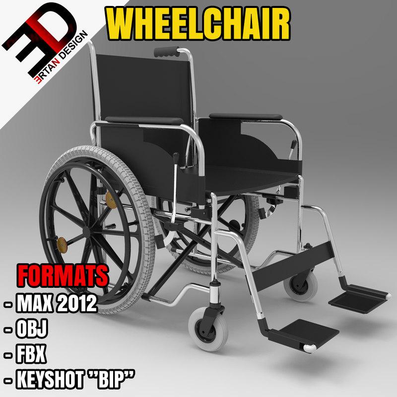 3d wheelchair chair model