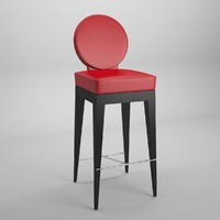 3d model mascheroni chair martini bar