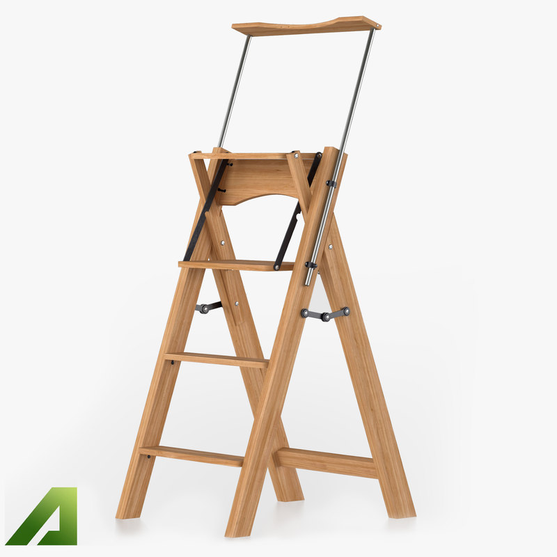 3d ladder wood