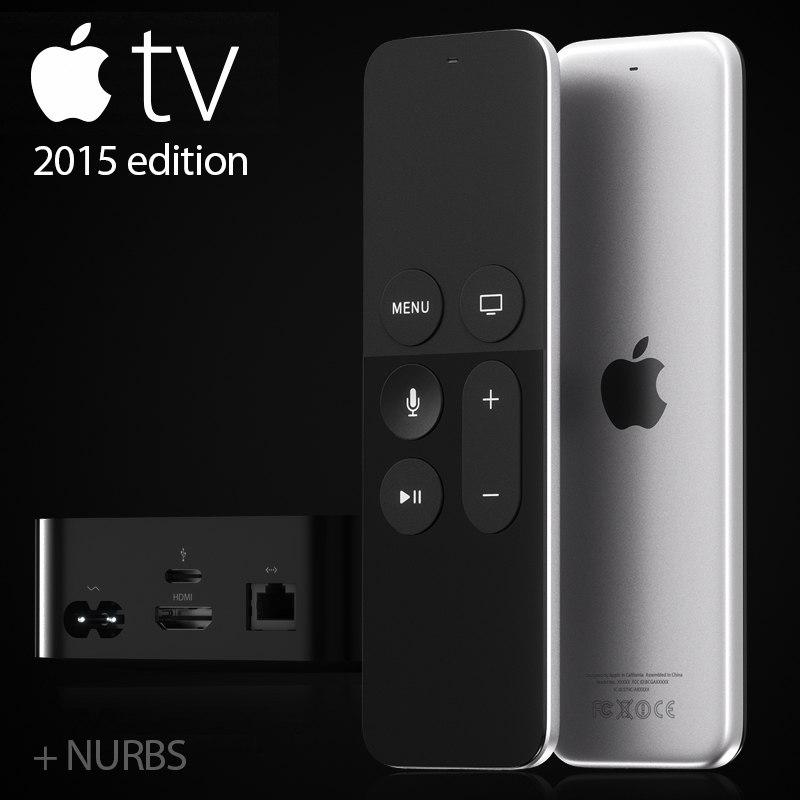 3d model apple tv 2015
