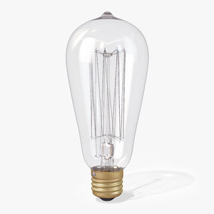 vintage pear-shaped edison light bulb max