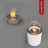 3dsmax realistic fireplace heating