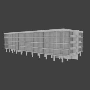 3d model apartment pavilion building interior