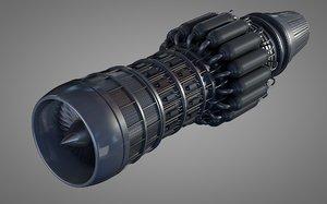 jet turbine engines 3d 3ds