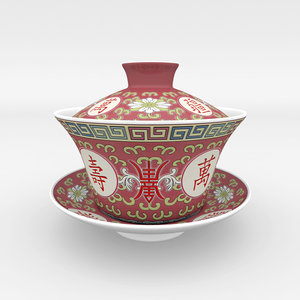 3d model gaiwan chinese tea gongfu