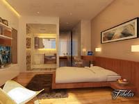 3d bedroom bath model
