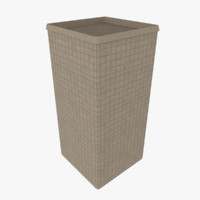 3d hesco barrier model