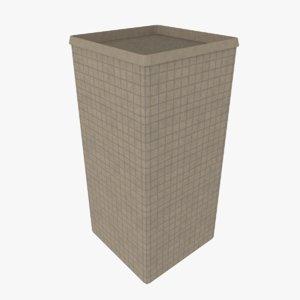 3d hesco barrier model
