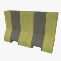 3d 3ds road barrier