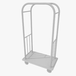 hotel cart 3d 3ds