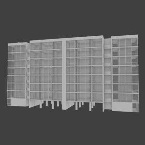 3d model apartment building interior exterior